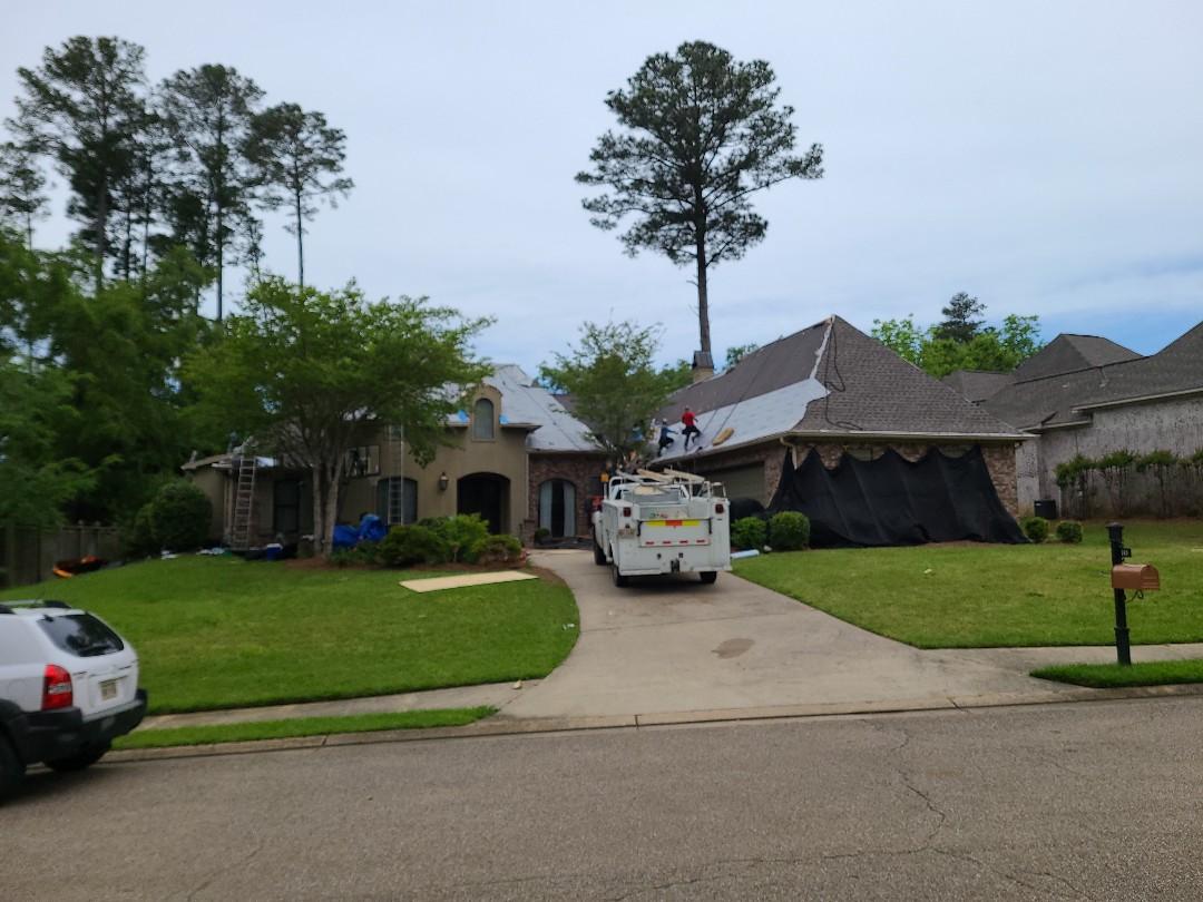 Madison, MS - Roofing, copper dormer, chimney, tee pee copper, GAF, Architectural Shingles, storm damage, leak, roof leak