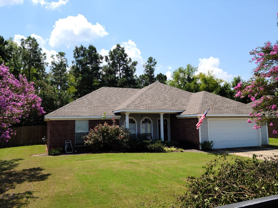 Brandon, MS - Gutters, LeafBlaster, downspouts, roof inspection,  GAF