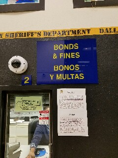 Dallas, TX - Filing a couple of writs of habeas corpus at the Dallas County bond desk at Lew Sterrett Jail to have bonds set on two fraudulent removal destruction concealment of writing (switching price tags) cases out of the Garland Police Department. Misdemeanor cases are set at $500 so the clients can be bonded out without having to wait for a judge to come set the bonds in the morning. Suburban jails don't have judges round the clock to set bonds so people who don't know to call a lawyer often get stuck in jail overnight.