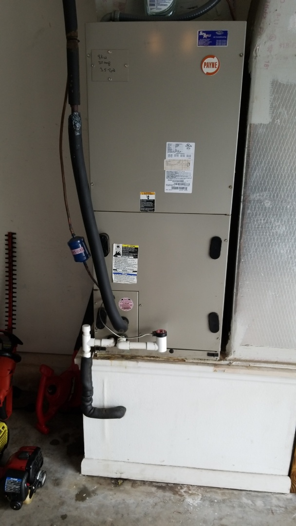 Homosassa, FL - No cool on a Payne 3.5 ton heat pump ac system/unclog cond.drain off on float switch