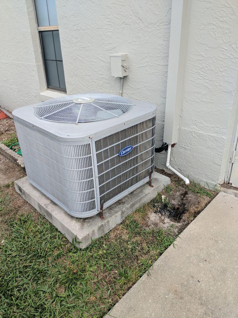 Crystal River, FL - Replaced grounded compressor on carrier parking labor warranty system