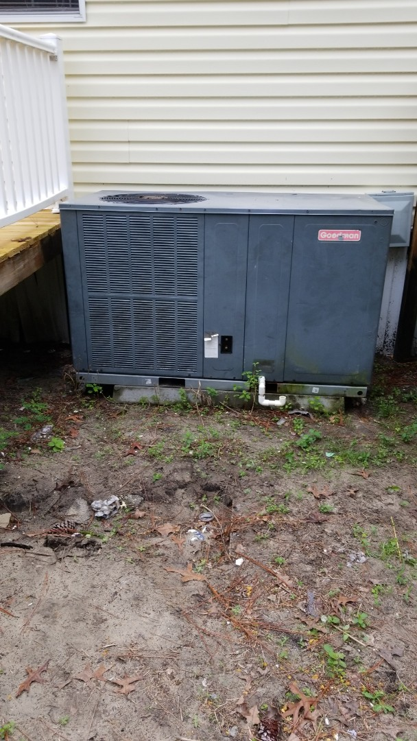 Homosassa, FL - Wire in new stat on a 5 ton Goodman ac pkg unit
