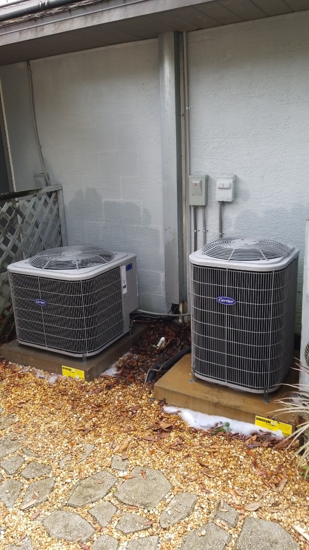 Homosassa, FL - Check ups on a carrier 3ton heat pump and a 1.5 ton heat pump ac systems