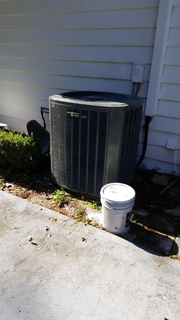 Crystal River, FL - Check up on a trane 5ton heat pump ac system