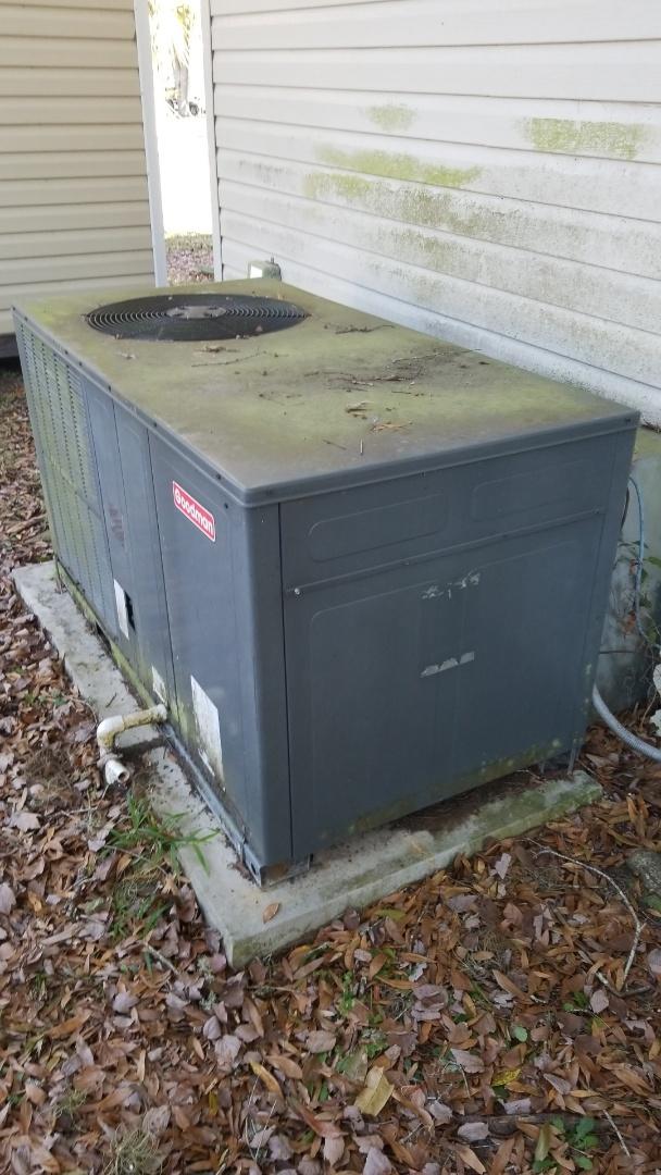 Homosassa, FL - No heat on a Goodman 3ton pkg heat pump ac system