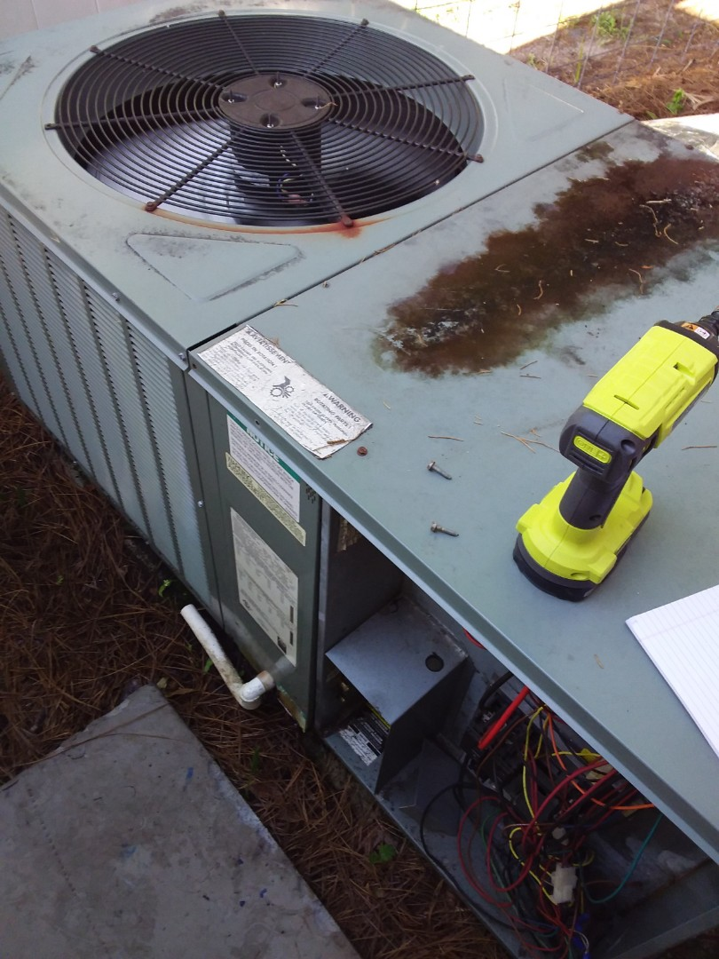 No cool on a 3 ton rheem heat pump ac pkg unit