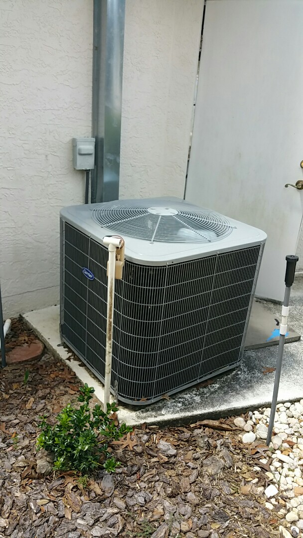 "Homosassa, FL - No cool on a 3 ton carrier ac system. Replace bad capacitor ""open """