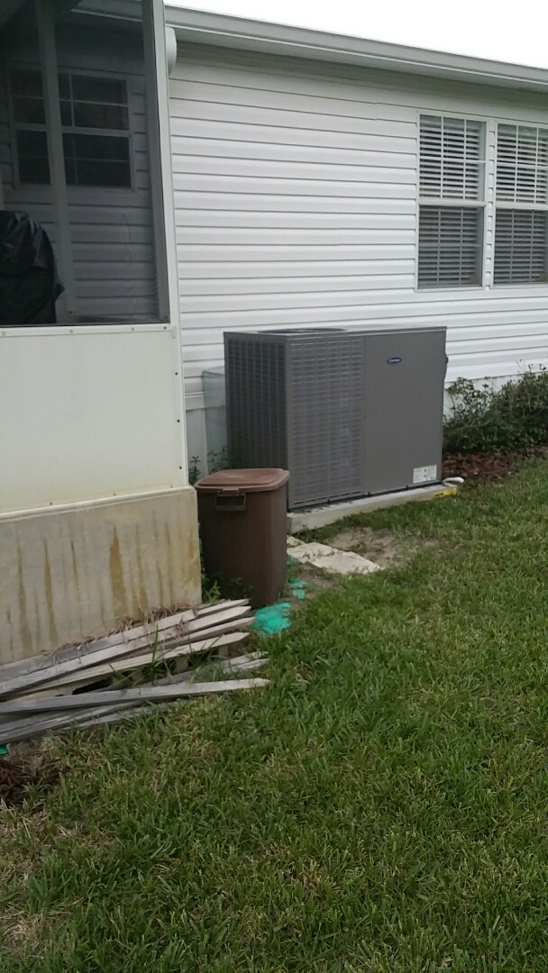 Inglis, FL - Emergency service insufficient Cooling on a 4-ton carrier packaged heat pump AC system