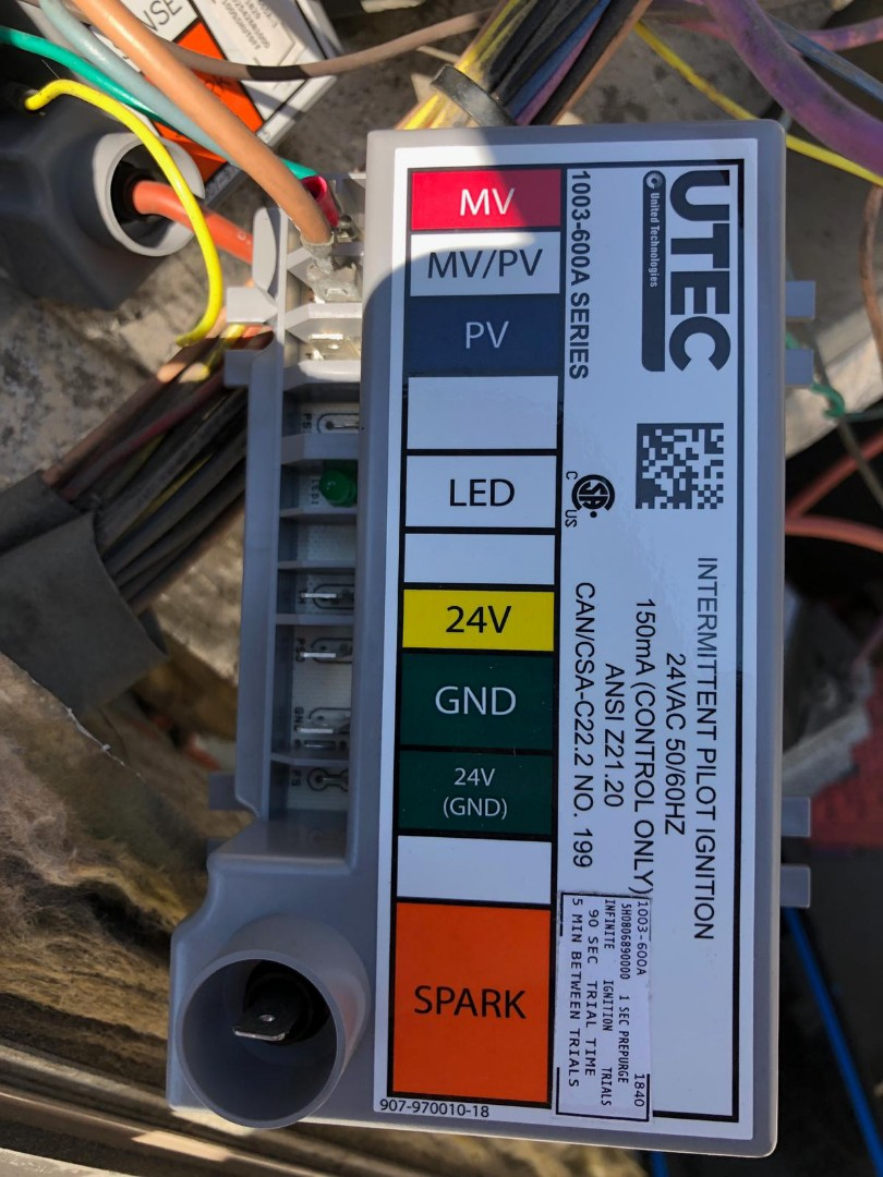 Union, NJ - Replaced Trane ignition control