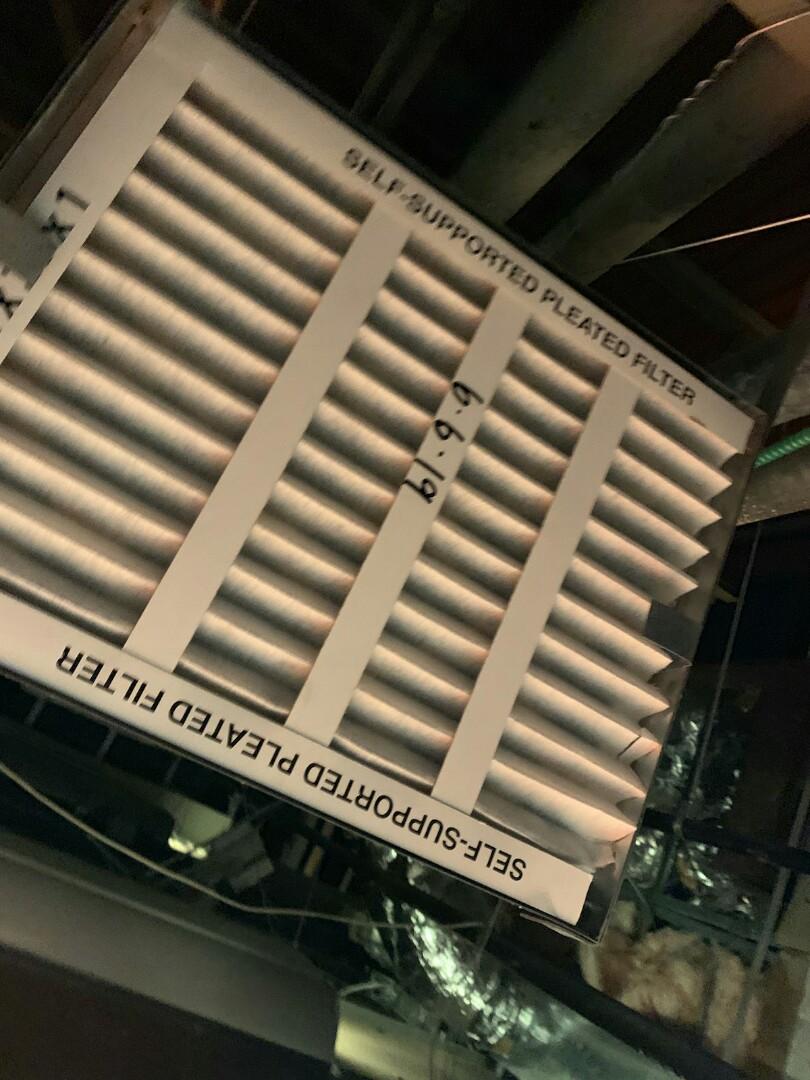Wharton, NJ - Filter change for VAV system
