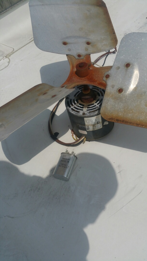 Livingston, NJ - Replacing failed condenser fan motor