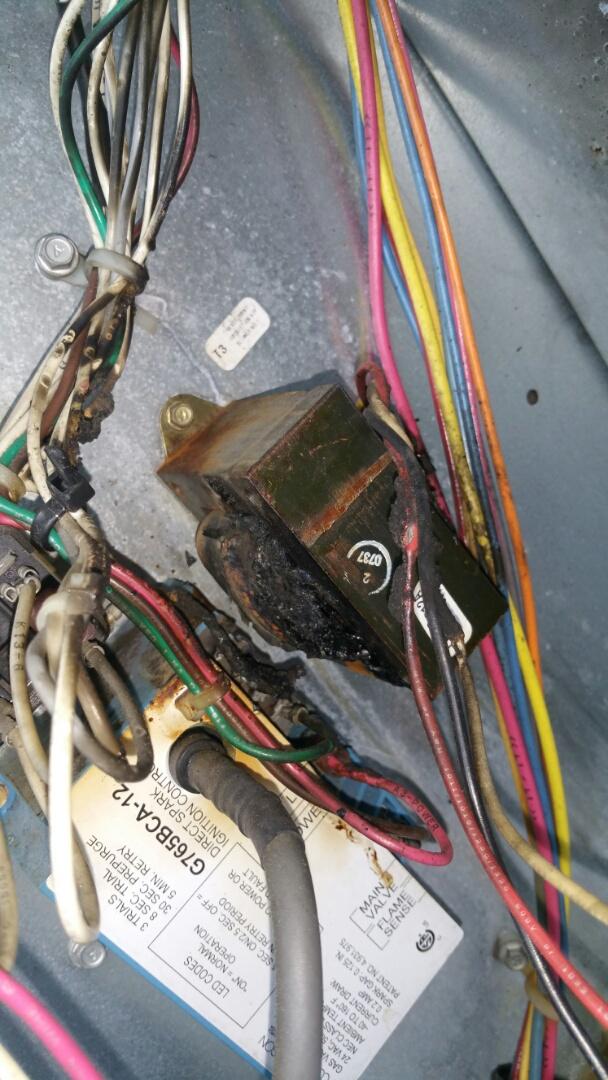 Secaucus, NJ - Preventative Maintenance found burned transformer