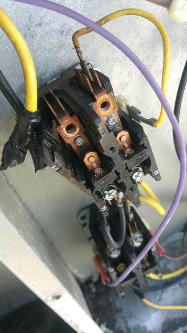 Clifton, NJ - Damaged contactor for electric heat found on PM