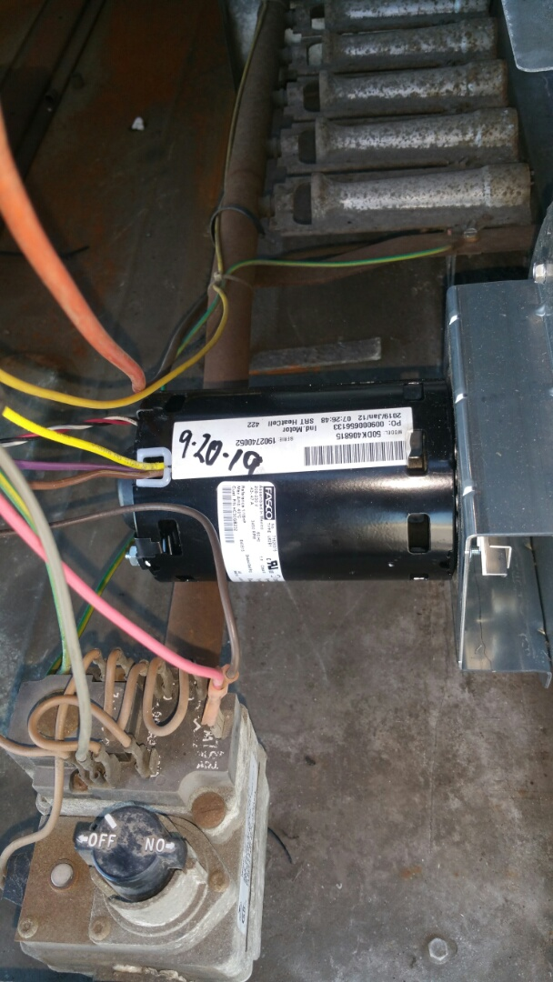 Paterson, NJ - Replacing failed inducer motor