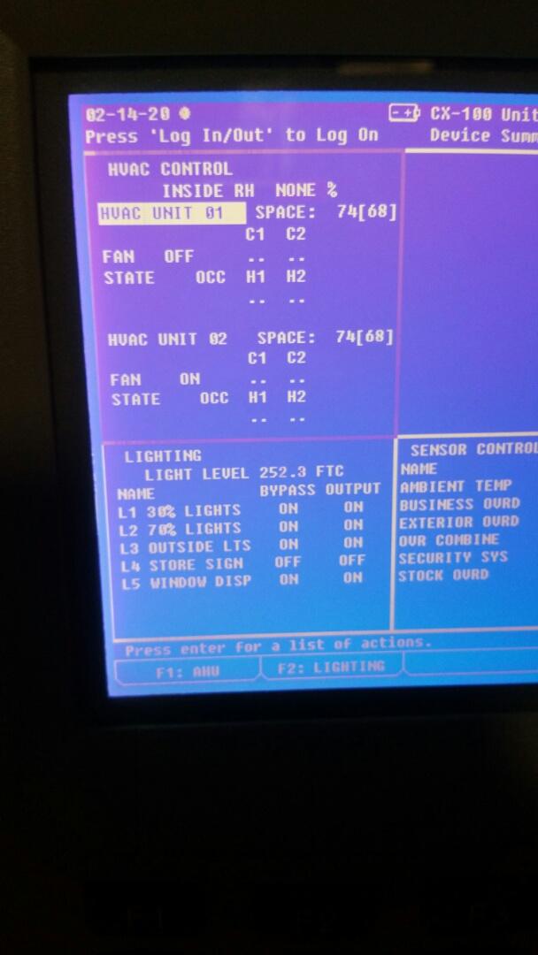 Configuring Emerson E2 control board