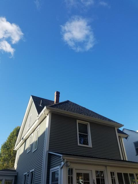 Beacon, NY - Just completed a new GAF Charcoal Timberline shingle replacement!