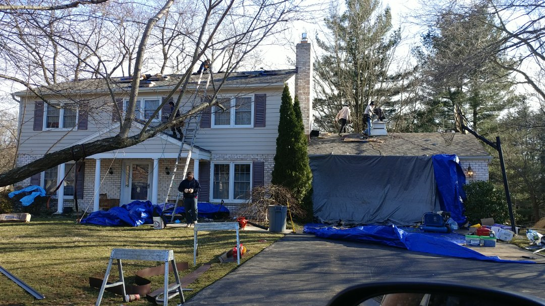 Olney, MD - Certainteed Landmark Pro shingle replacement in Olney. Weather Wood color, great clean up and exterior protection!