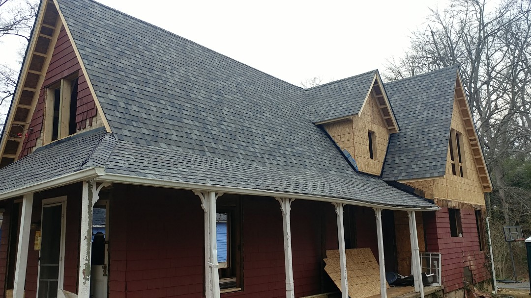 Washington Grove, MD - New Certainteed, Georgetown Grey, Architectural shingles on a full renovation 140 year old home in Washington Grove, Maryland.