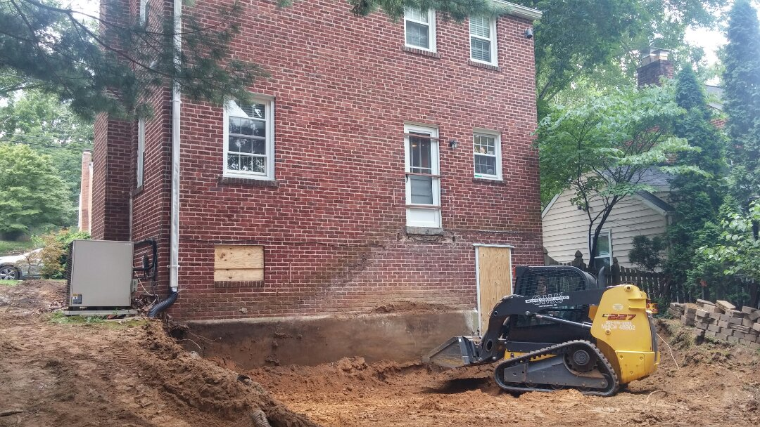 Silver Spring, MD - Starting another Silver Spring addition project!  Three story side and rear....