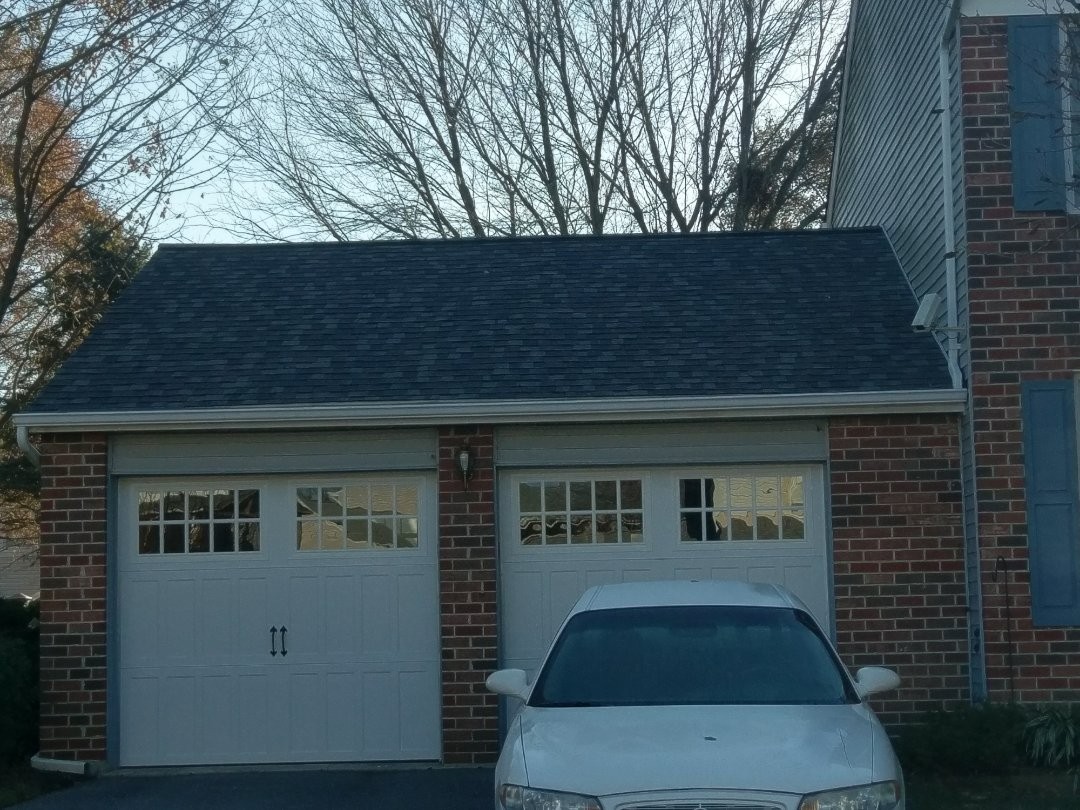 Olney, MD - Insurance approved roof replacement using 50 year certified Landmark pro shingles in Colonial Slate to compliment the the brick.