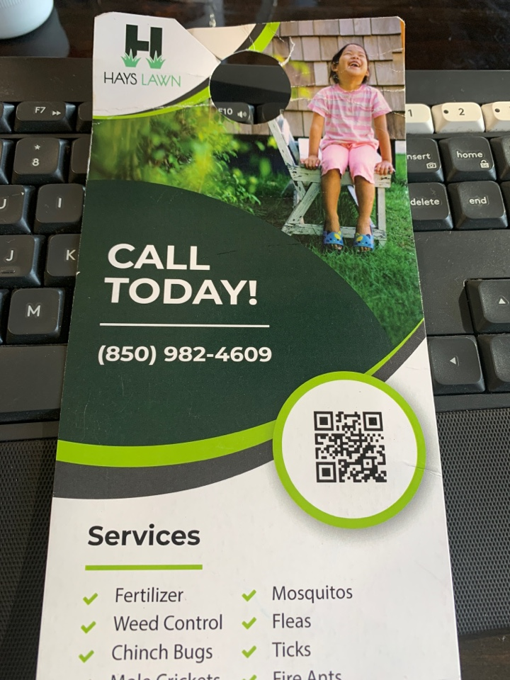 Talking to a lawn care company about website search engine optimization and Google reviews