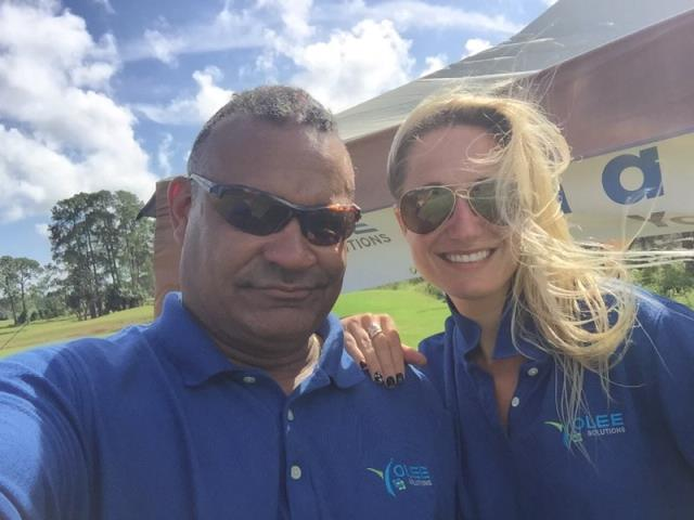 Pensacola, FL - Yolee Solutions were official sponsors in the Save Underdogs Charity Golf Tournament at Perdido Bay Golf Tournament on Oct 8th, 2018.  We sponsored Hole # 13.  During the golf tournament, we gave out FREE Cold Water to any and all takers playing golf during the 4.5-hour tournament.  In addition, Yolee Solution raffled off 3 FREE Vacation Packages to golfers.  We had a great time working on behalf of the Save Underdogs.  We'll be back next year.
