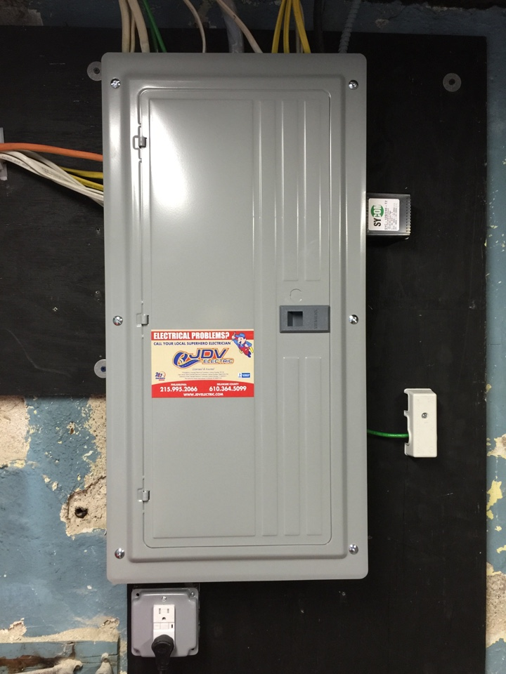 Yeadon, PA - Installation of new 100 amp electrical service and whole house surge protector