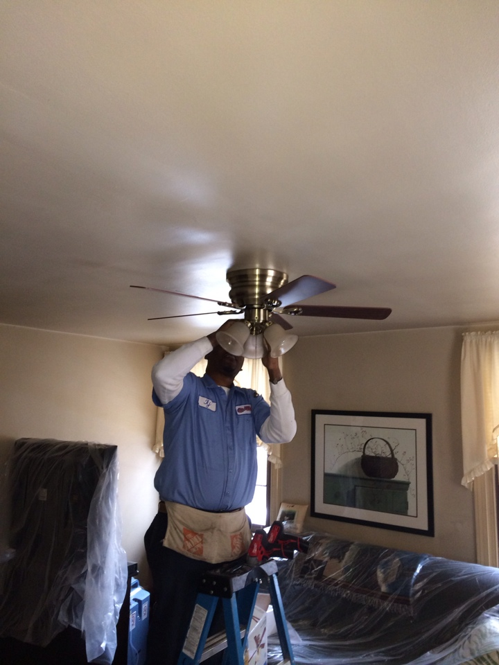 Woodlyn, PA - Wire and install ceiling fan