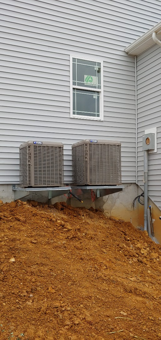 Shippensburg, PA - Installed a york 2 ton and 2.5 ton condenser for a new home construction in shippensburg pa