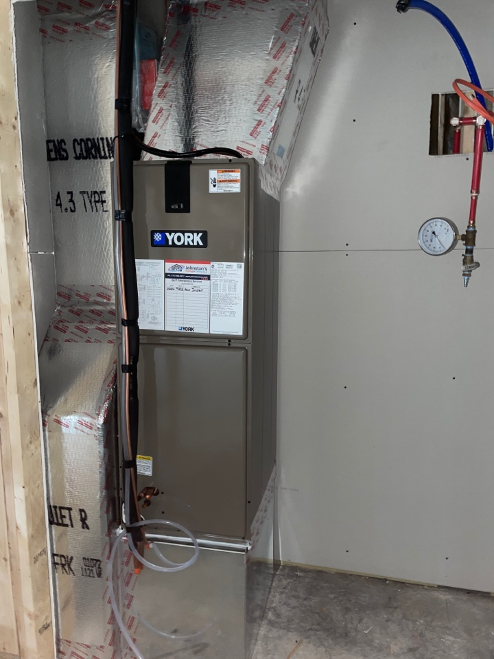2.5 ton heat pump installed for a new construction home in Chambersburg PA