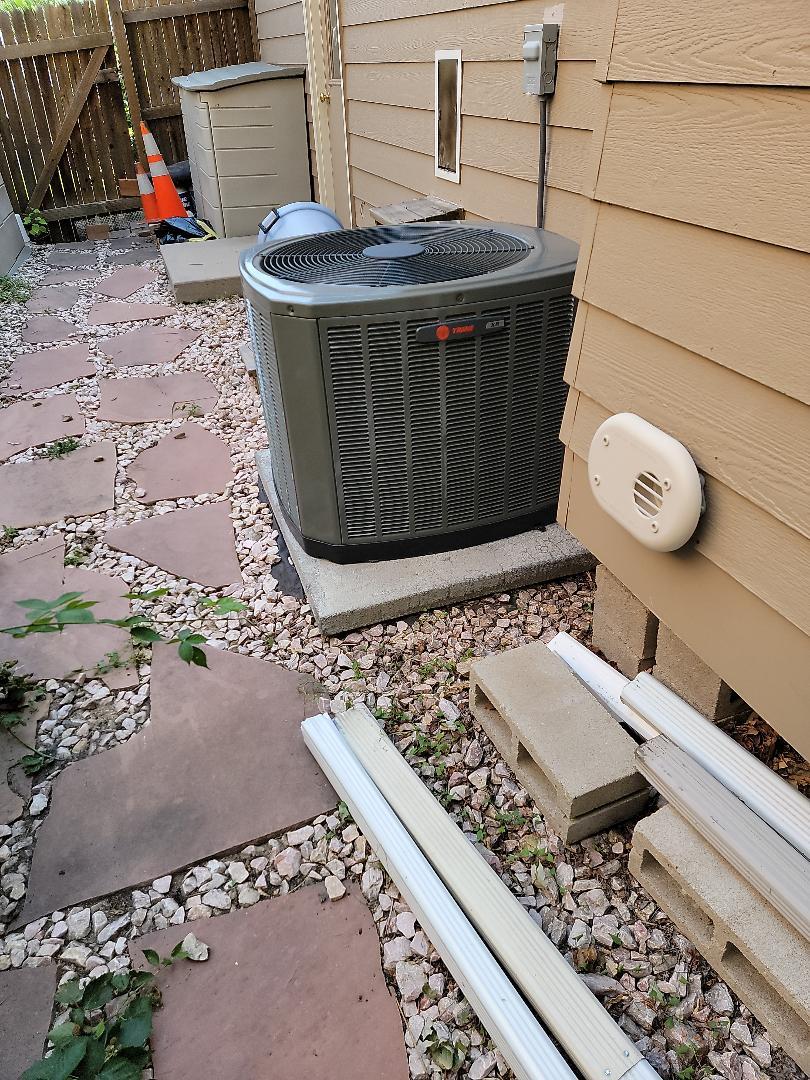 Trane AC installation