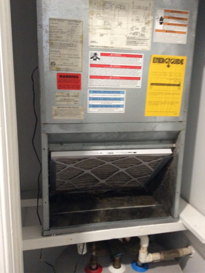 Fort Lauderdale, FL - AC Service Call unit leaking water. Evaluate system to find drain line was clogged. Cleared drain line and unit is now cooling properly and is no longer leaking water.