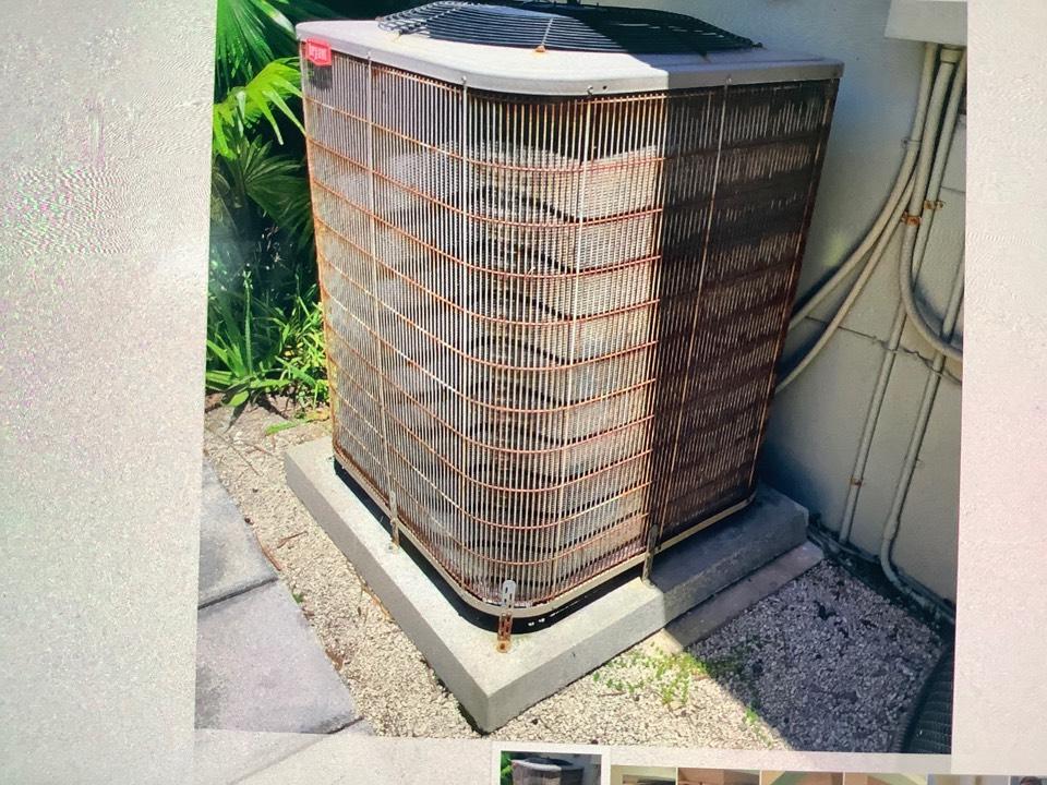 Deerfield Beach, FL - AC Maintenance Call. Perform routine maintenance on Bryant air conditioning split system.