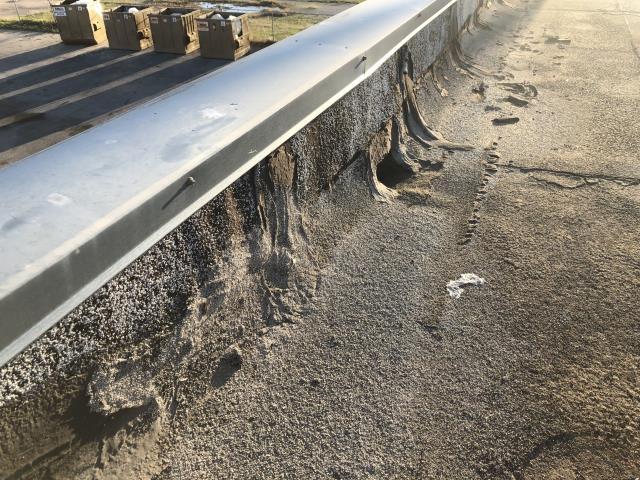 Tulsa, OK - Repaired holes in membrane, repaired seams