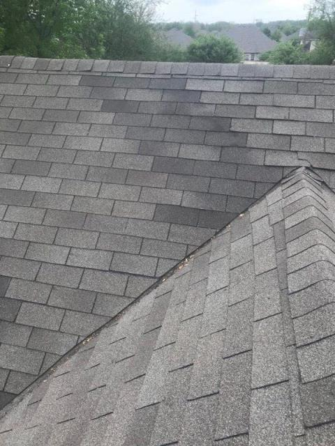 Jenks, OK - Replaced wind blown shingles