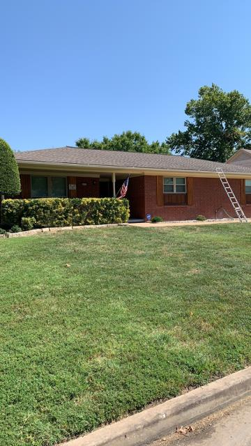 Tulsa, OK - Residential roof inspection. This roof is missing 2 feet of hip shingles on the southeast corner and also needs a repair of 2.5 inches of vent pipe flashing located near the ridge on the kick-out hip roof section. Sent a quote to make these repairs.  Call Billings Construction Group for all your roofing needs-  (918)600-9565