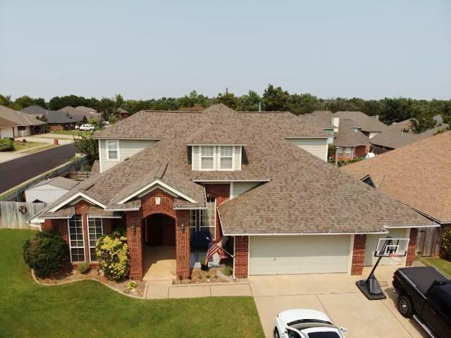 Edmond, OK - This is a residential roof inspection we performed today in the Edmond area.