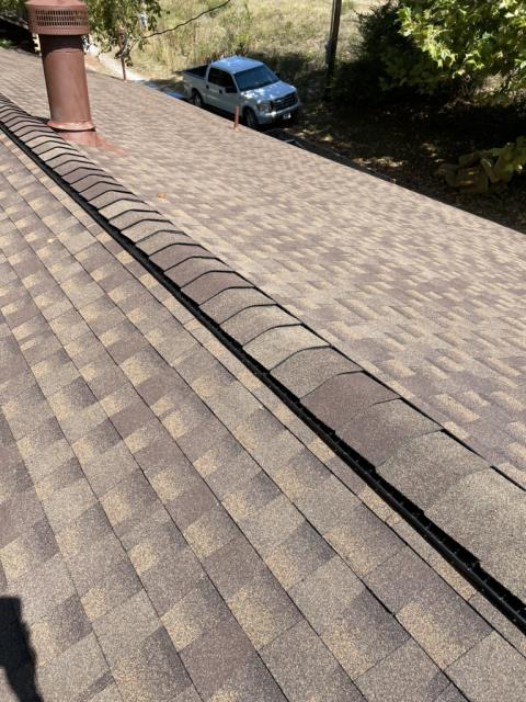 Vinita East, OK - Completed roof repairs on this one. Call us today for any repairs or roofing needs you may have. (918)600-9565.