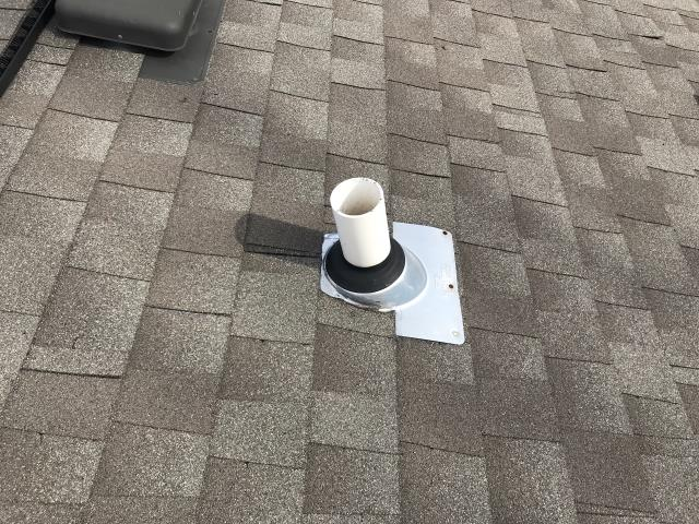 Mannford, OK - Fixed Roof leak at bathroom exhaust fan.