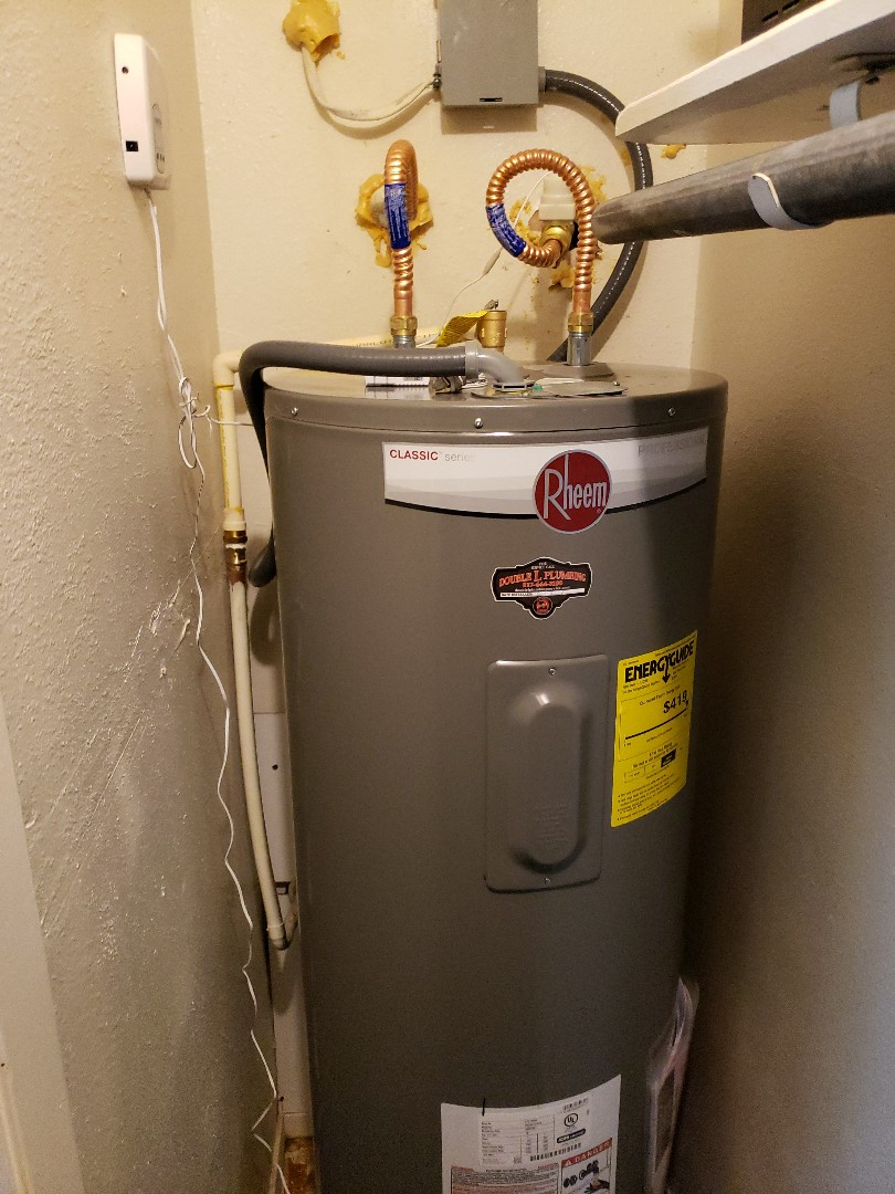 Springtown, TX - Replaced a leaking water heater and brought up to code