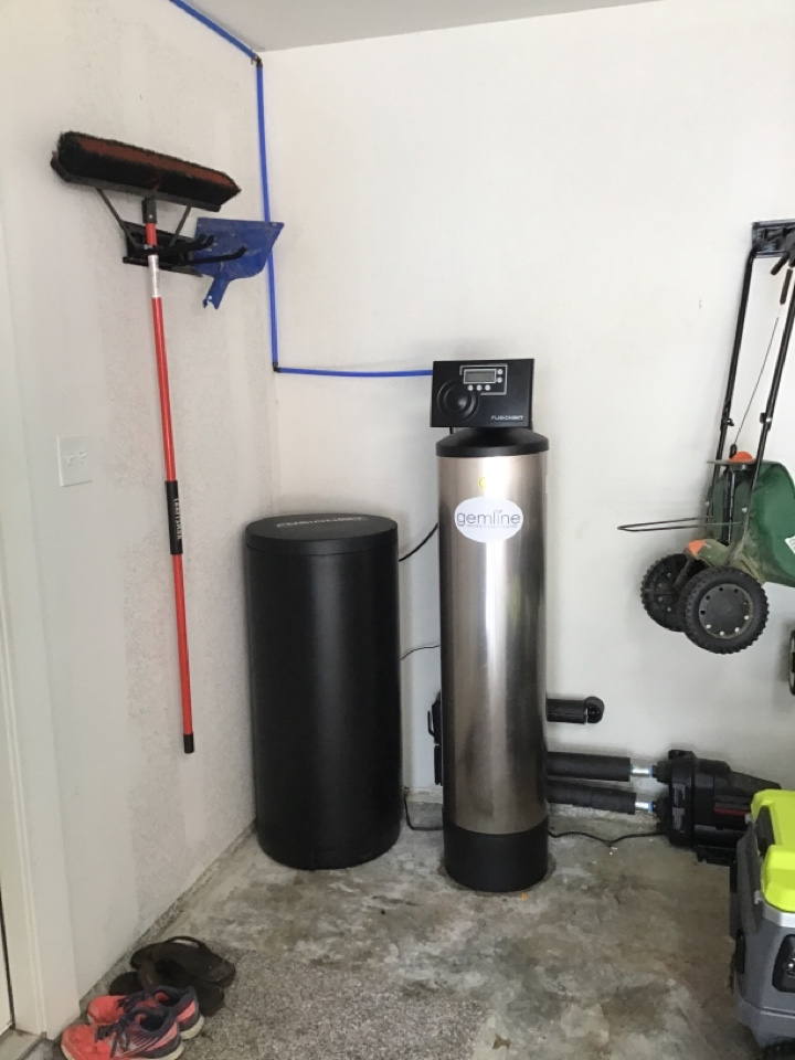 Benbrook, TX - Install water softener system, flush tankless water heater.