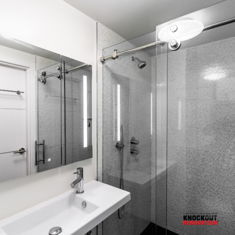 """New York, NY - Second Bathroom renovation. The term """"Upgrade"""" is an understatement, we knock out all the parts of the renovation that make it difficult to achieve this beautiful bathroom with little effort on the homeowner."""