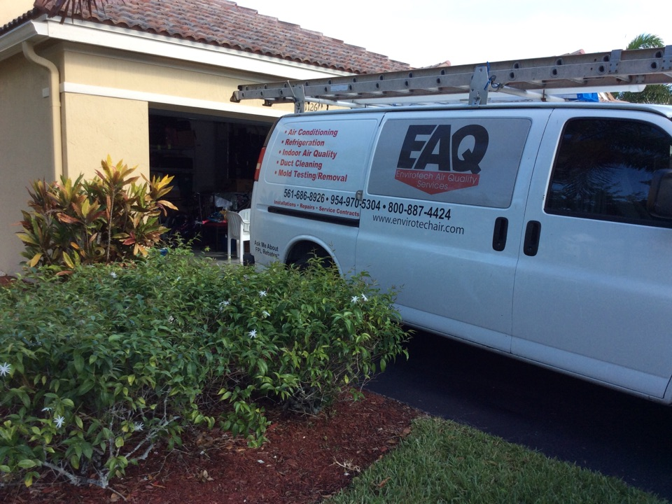 Weston, FL - Residential duct cleaning and encapsulation.
