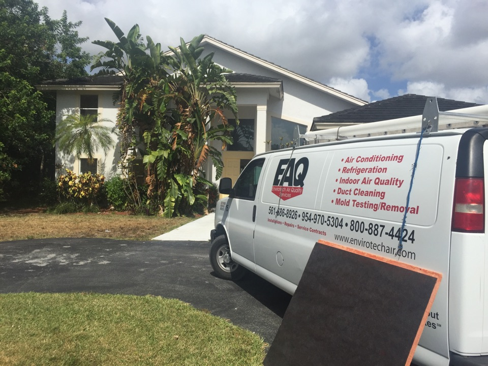 Parkland, FL - Installing new Trane air handler in the attic