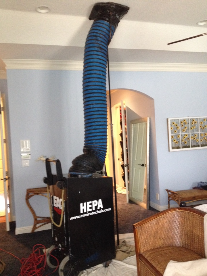 Davie, FL - Ac duct cleaning for hivac. Cleaned and sanitized all ducts