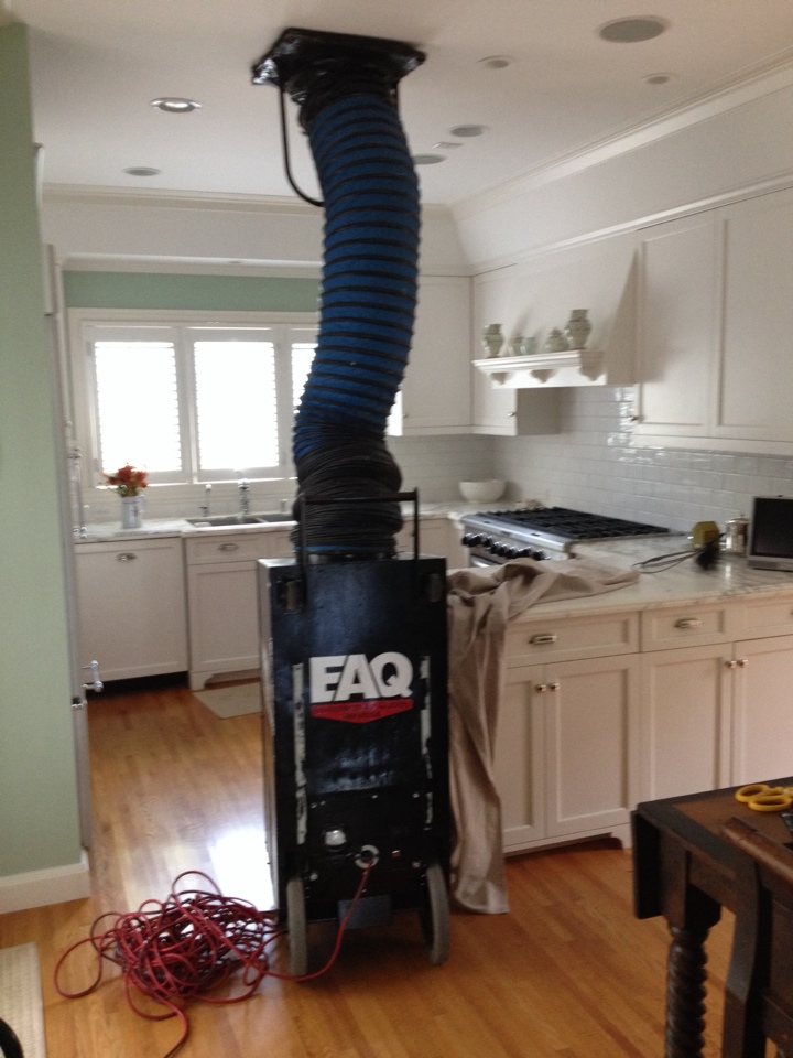 Palm Beach, FL - We did a two unit duct cleaning in Palm beach island. Found mold in the cans for upstairs unit and encapsulated the cans