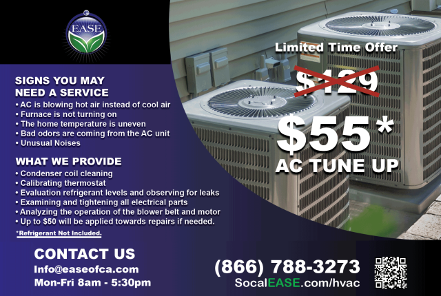 Menifee, CA - Just got done confirming our Spring Special. $55 AC Tune & Clean is a great deal!