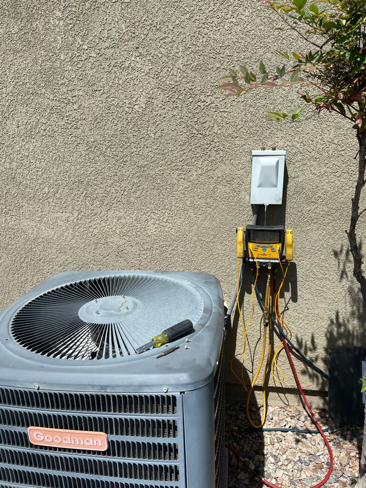 Menifee, CA - Another happy customer with a clean and tuned up a/c ready for summertime!