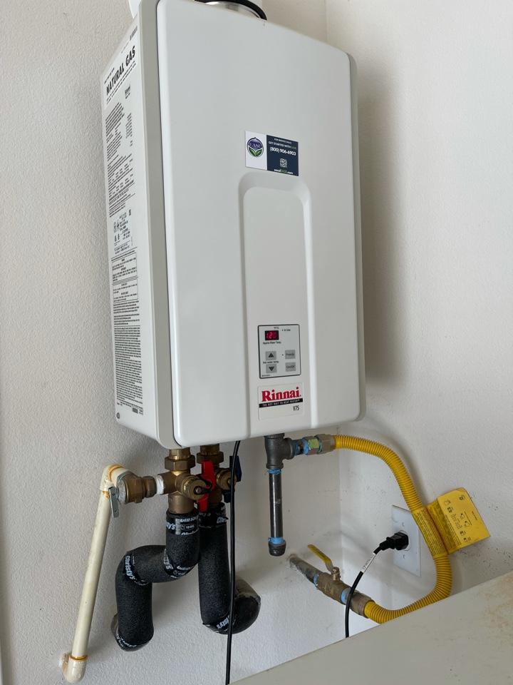Menifee, CA - Tankless water heater flush for another happy customer!