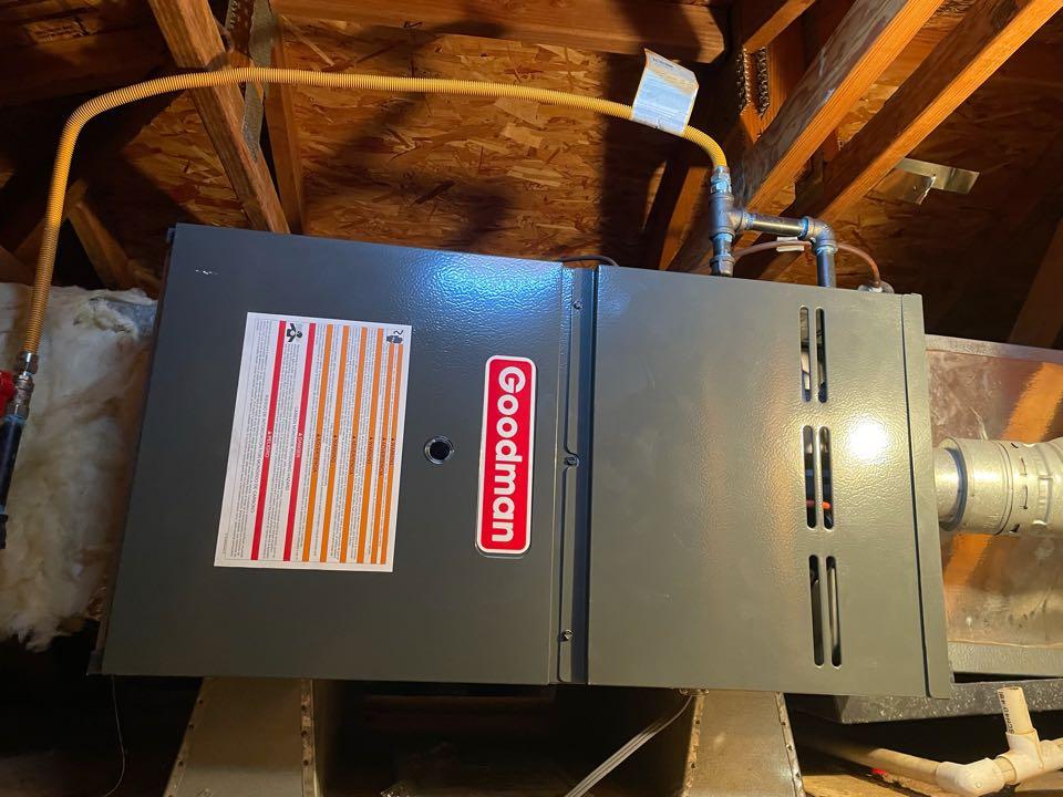 Irvine, CA - 80% 60k BTU 4 ton horizontal FAU install for another happy customer